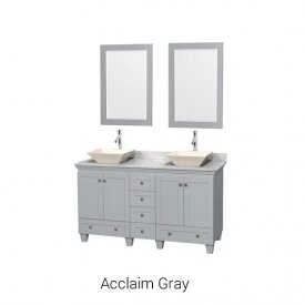 "Acclaim Gray | Available Sizes: 30"", 36"", 48"", 60"", 72"", 80"" and Tower"