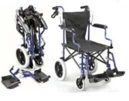 Deluxe Folding Transport Travel Wheelchair