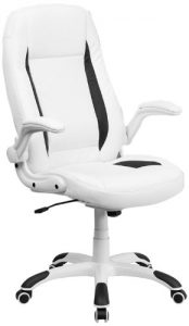 Flash Furniture White Leather Executive Office Chair