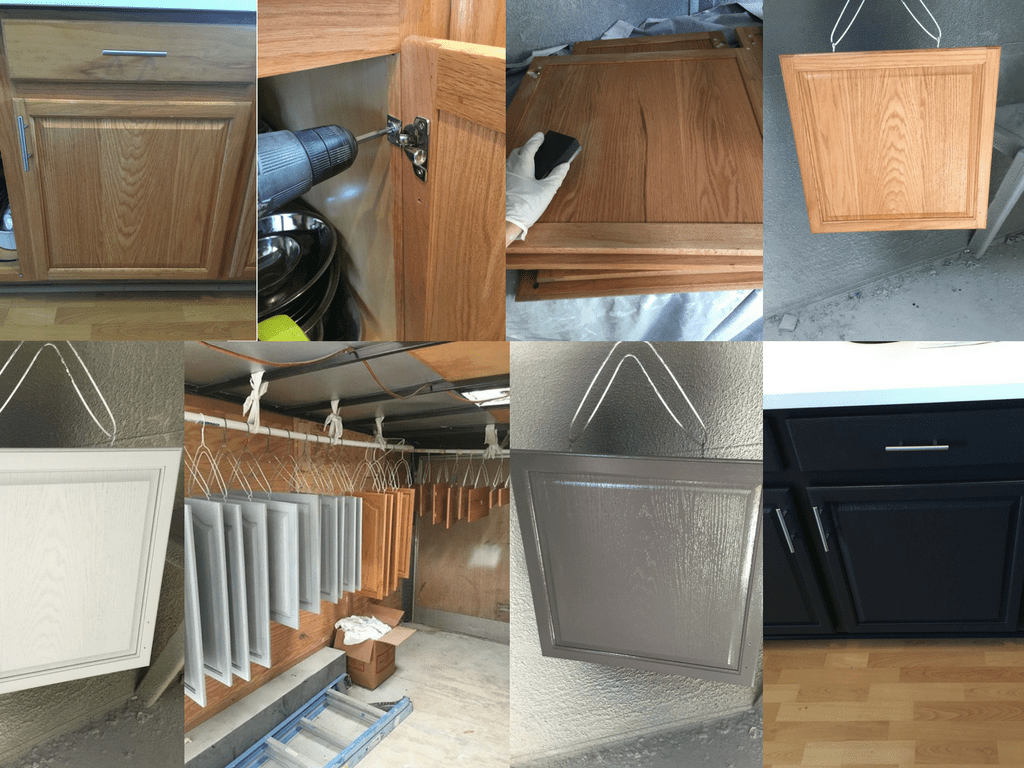Painting cabinet process