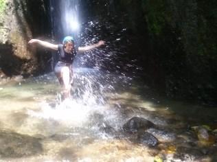 Hiking through waterfalls
