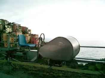 Grape train in the Cinque Terre