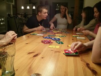 Learning new games with German friends