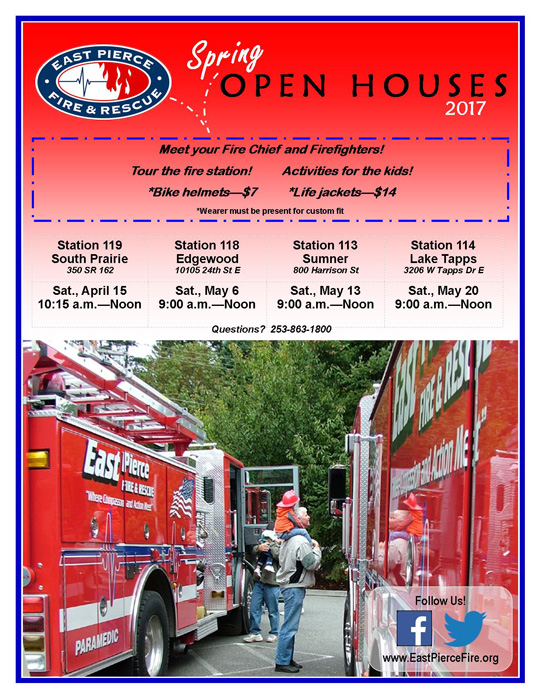 East Pierce Fire & Rescue Spring Open House- Sumner - The