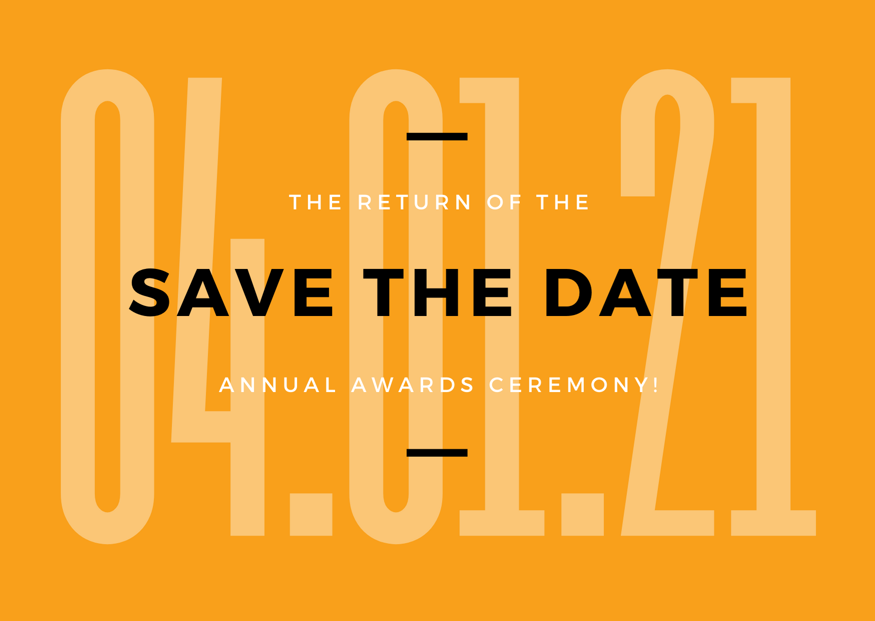 2020 Chamber Awards, Save the Date!