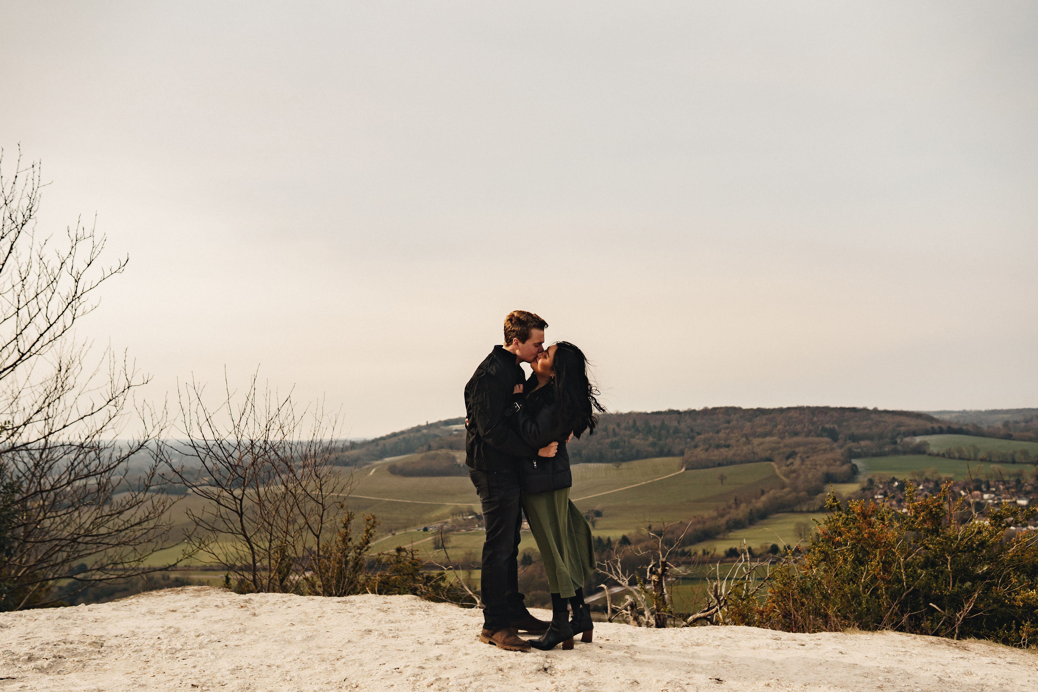 Engagement Shoot at Box Hill Surrey, Shot by The Chamberlins Wedding Photography.