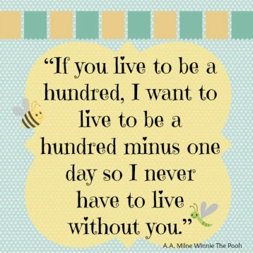 Thought for the day - Cant live without you