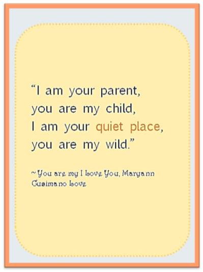 Thought for the day - I am your parent