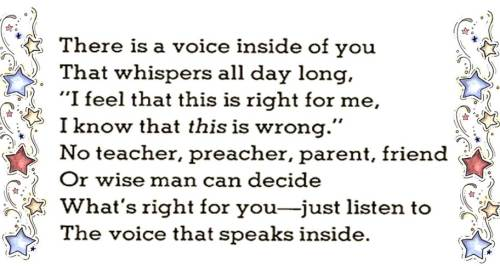 Thought for the day - The Voice