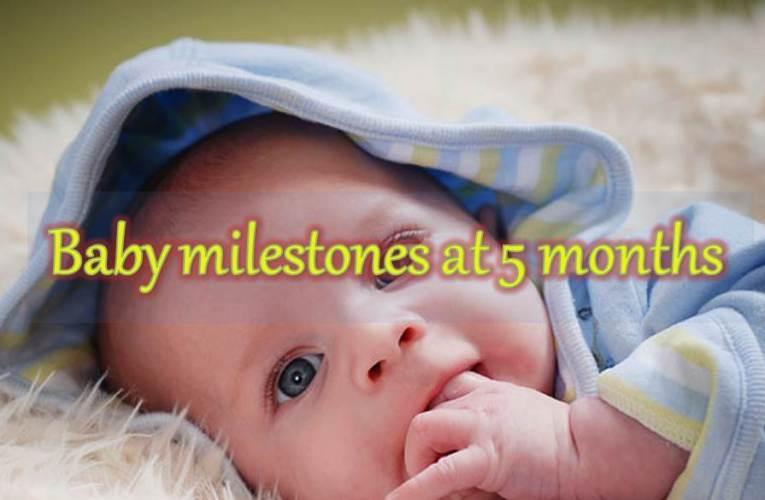 Baby milestones at 5 months