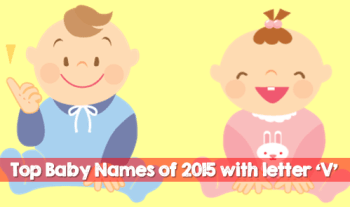 Top Baby Names Of 2015 With The Letter V