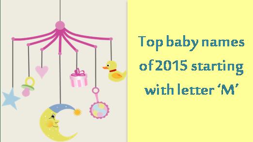Top baby names of 2015 12