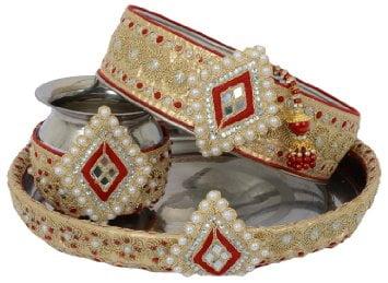 Karwa Chauth Puja Thali Designs 06
