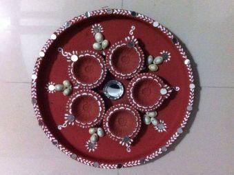 Karwa Chauth Puja Thali Designs 10