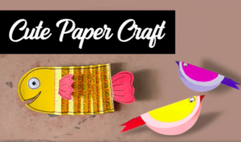 Video Of 2 Easy Paper Crafts For Kids – Paper Fish And Paper Bird