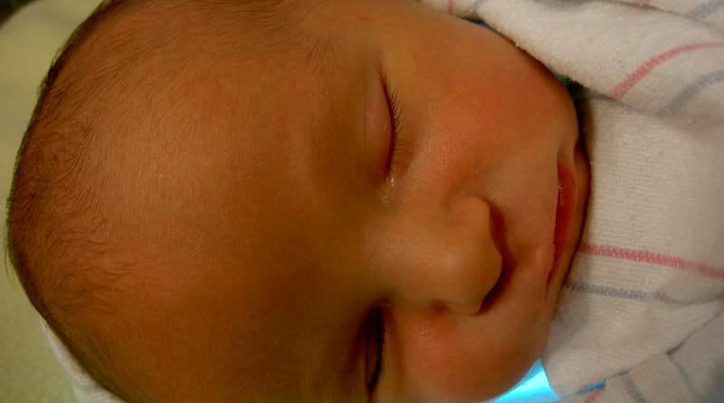 Jaundice In Newborn Baby - baby in blue blanket