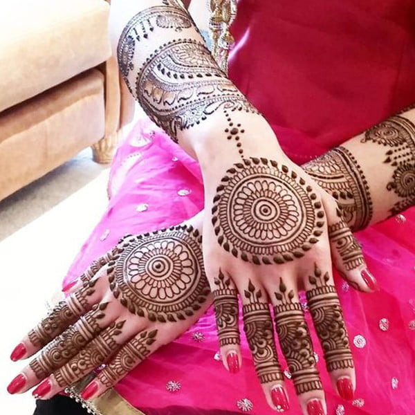 Simple mehndi design - hand and arms