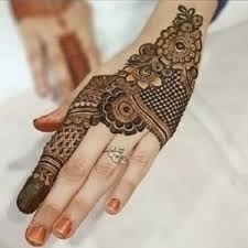 finger and back of the hand - mehndi design