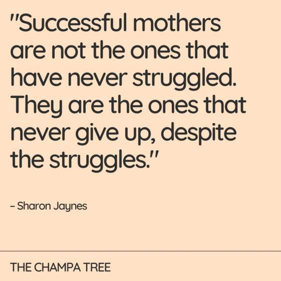 quote on successful mothers