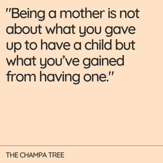 Being a mother- Quote