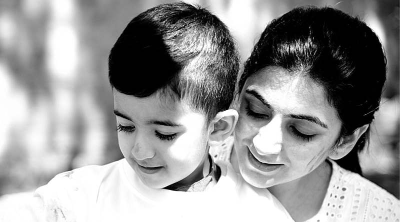 Mother and child quotes - Mother and her son sharing a bond