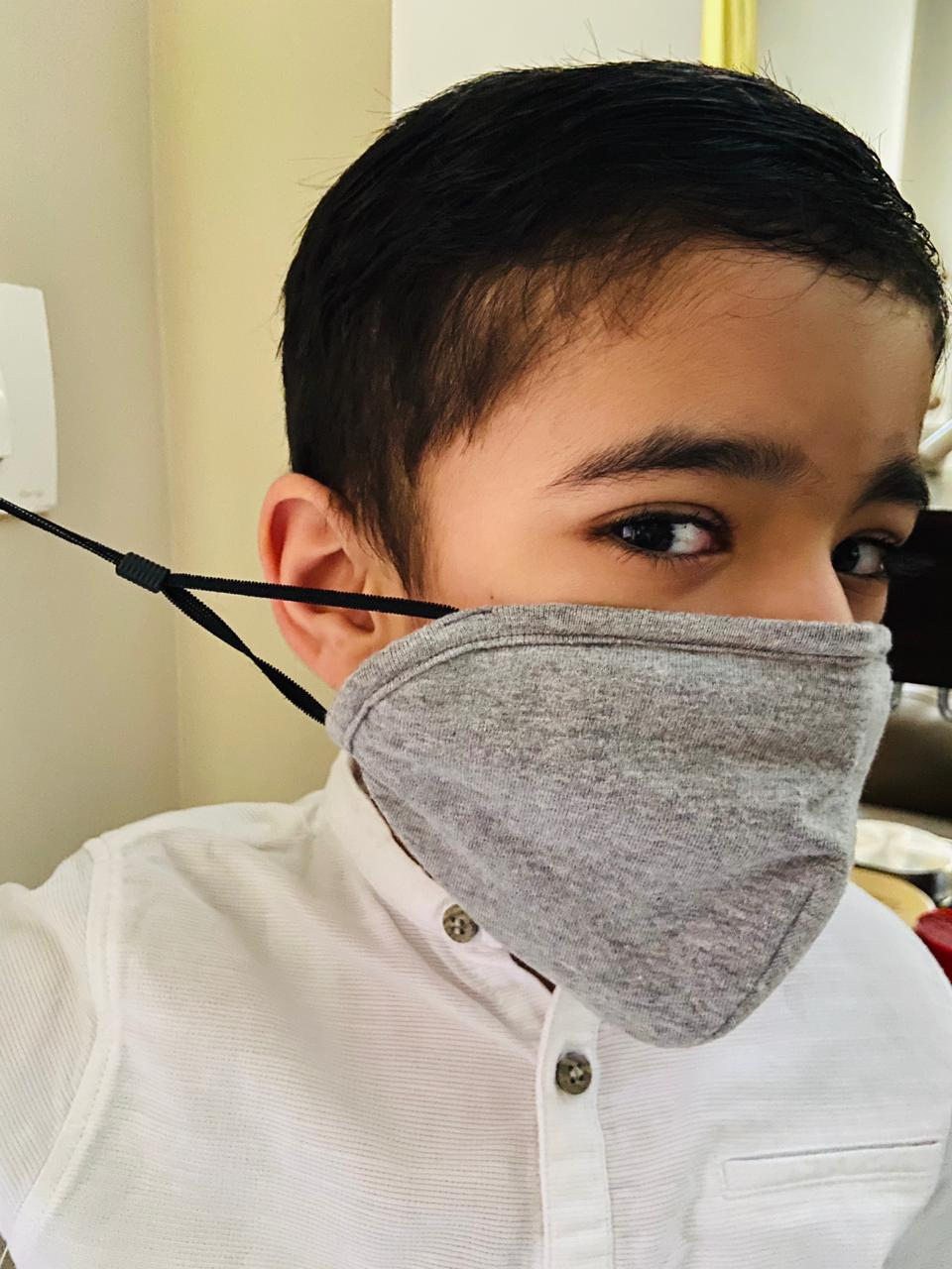 Face Mask Made In India - A boy wearing adjustable face mask
