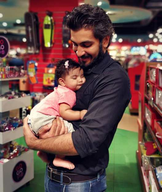 Bhushan Danani with his daughter