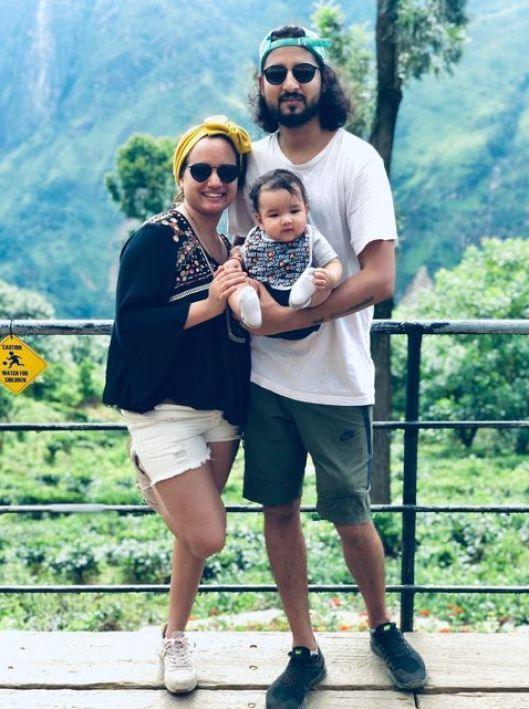 Importance of a father - Aditya Singh with his wife and daughter