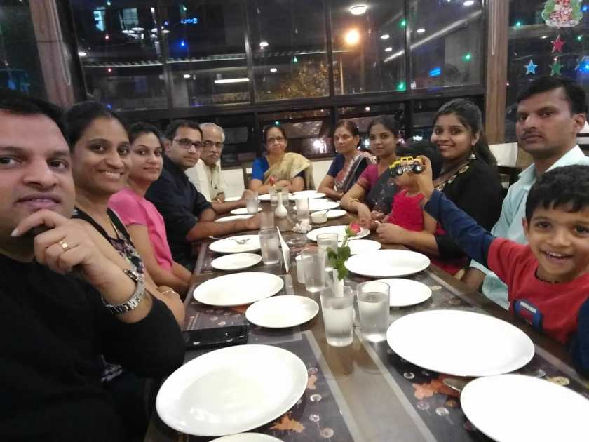 Nisha and Sangeet with both families
