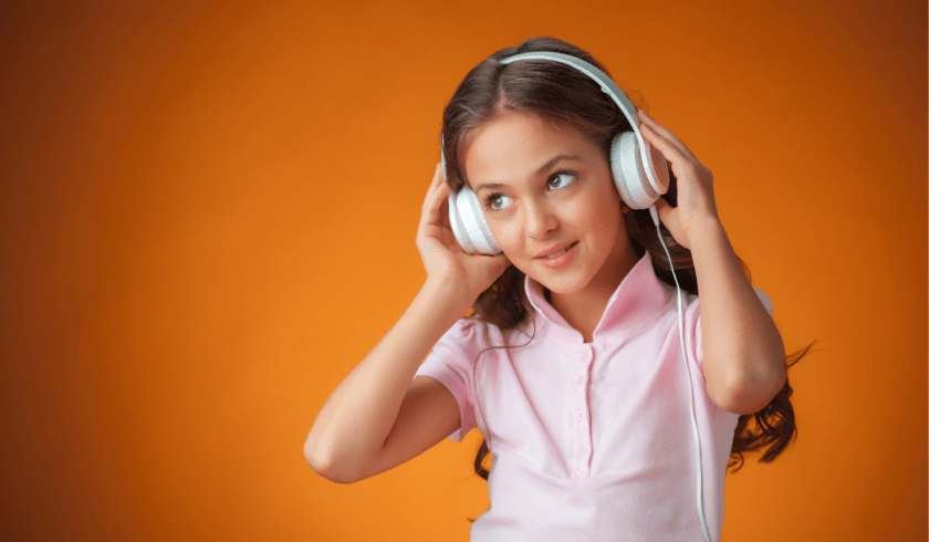 Girl listening to story