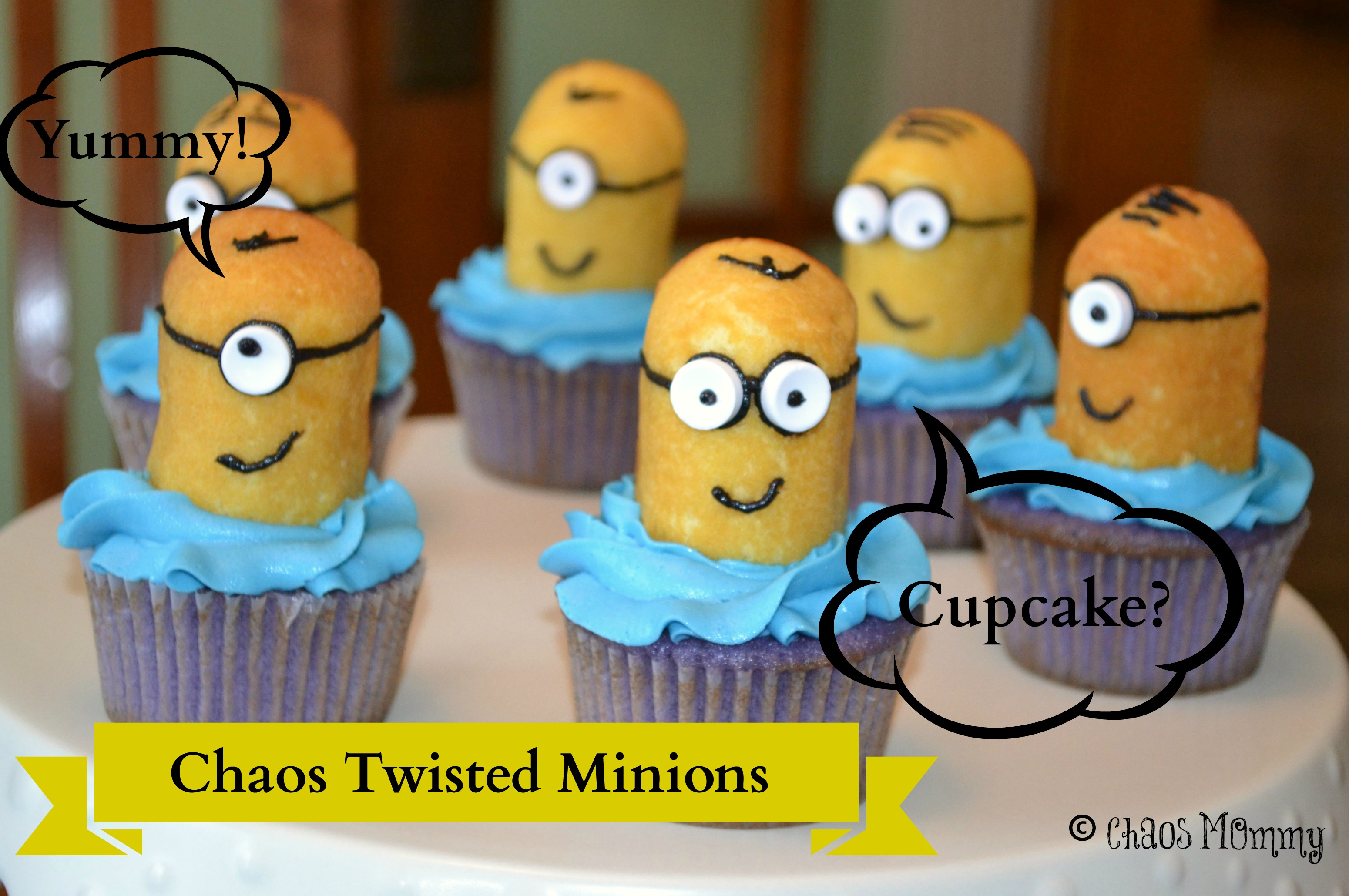 Chaos Twisted Minion Cupcakes The Chaos Mommy
