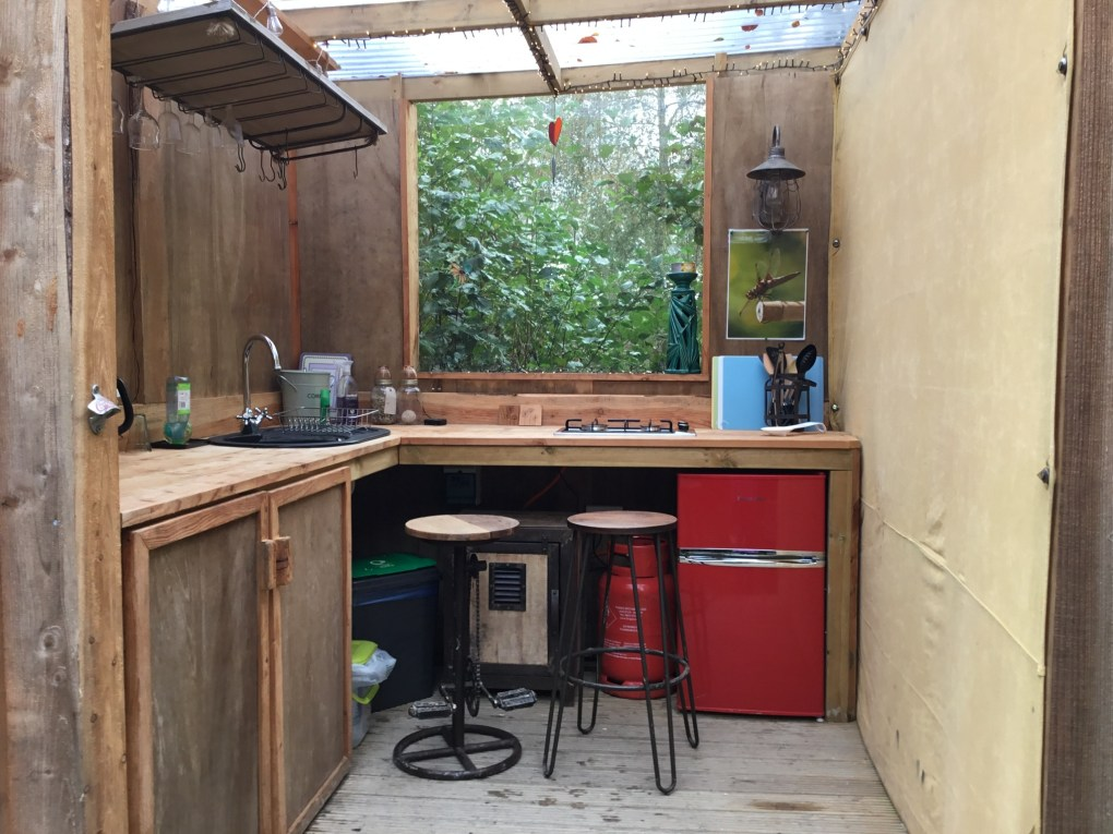 The Charcoal Hut kitchen deck