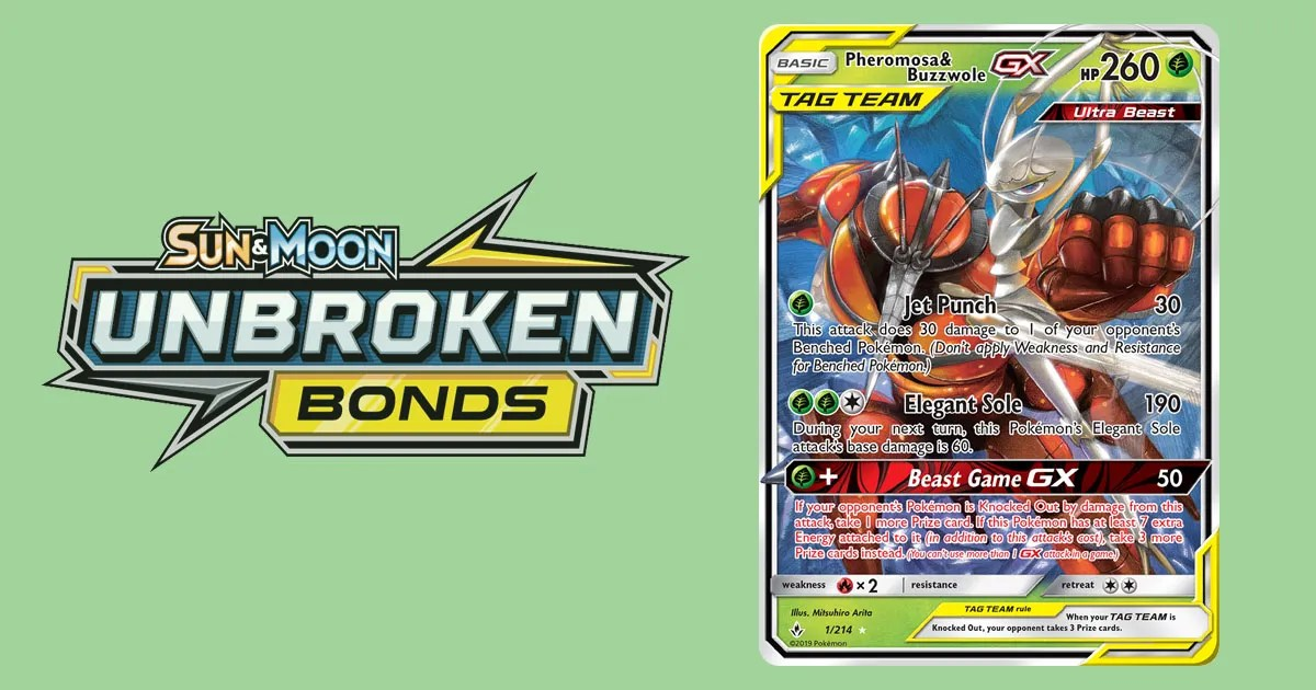 Unbroken Bonds Set Review – Grass Pokemon