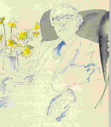 This portrait drawing by Robert Tilling was used on the cover of Causley at 70, an anthology of poetry and prose tributes