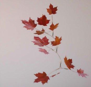 Maple leaf mobile. Etsy for fine artists.