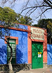 La Casa Azul, which has been open to the public since 1958 as a museum dedicated to Frida Kahlo.