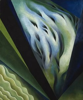 Blue and Green Music by Georgia O'Keeffe. 1921. Public Domain.