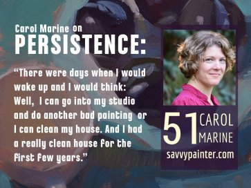 Painter Carol Marine on how to do one painting a day,