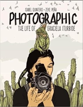 Comforting book about great photographer, Book Cover Featuring Drawing of Photographer Iturbide