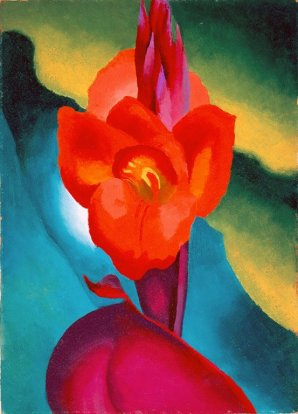 "Painting by Georgia O'Keeffe, ""Red Canna,"" 1919, High Museum of Art, Atlanta.Georgia O'Keeffe: 6 Business Tips For Artists"