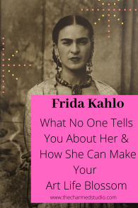 Frida Kahlo for artists and writers pinterest graphic