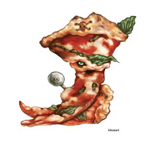 pizza illustration for art writing post