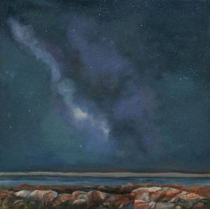 nighttime rocks by Janet Fons, for O'Keeffe post