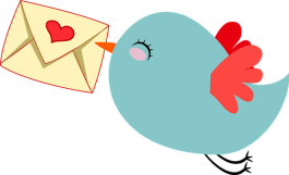 graphic of little happy bird with a letter in it's beak, the result of installing an email sign up form.