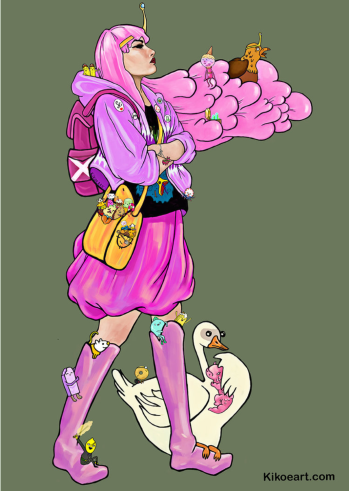 """""""Princess Bubblegum and the Candy Citizens,"""" Adventure Time Fan Art by Digital artist and Charmed Studio subscriber <a href=""""http://www.kikoeart.com"""">Kikoeart</a>. SEO for Artists,"""