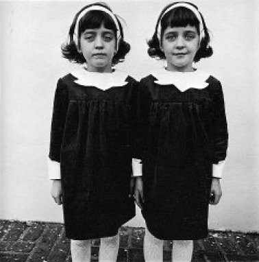 Diane Arbus photo of of Identical Twins