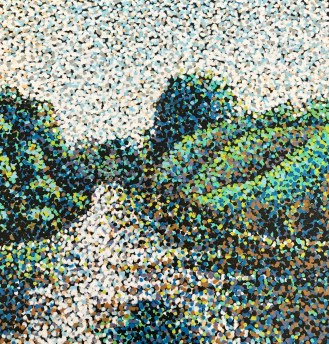 Painting of a path through hills. SEO for artists article.