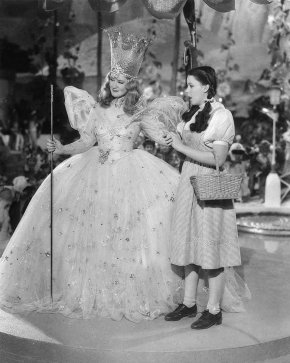 Glinda and Dorothy in MGM's Wizard of Oz for Prioritization for Artists Post