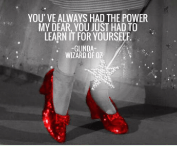 Glinda' quote to Dorothy, priorities for artists post