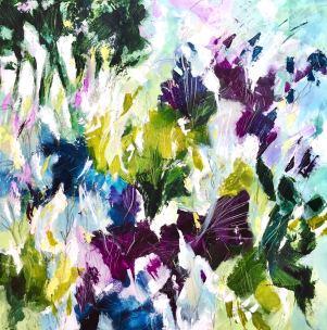 """""""Impronte di Natura/3,"""" by Cristina Dalla Valentina. Mixed media su tela, 70cm x 70cm."""